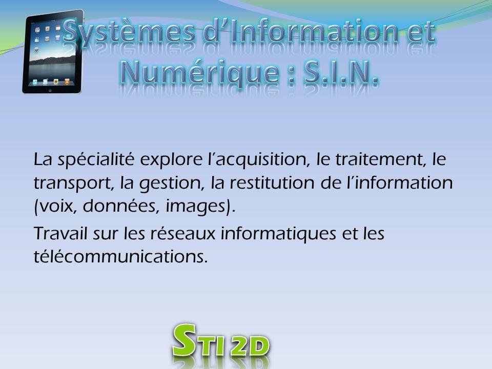 Systèmes d'Information et Numérique : S.I.N.