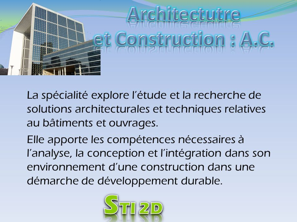 Architectutre et Construction : A.C.