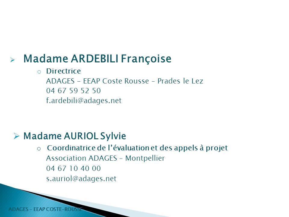 Madame ARDEBILI Françoise
