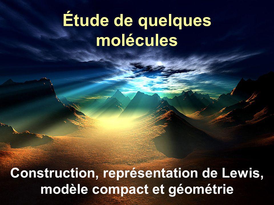 Étude de quelques molécules