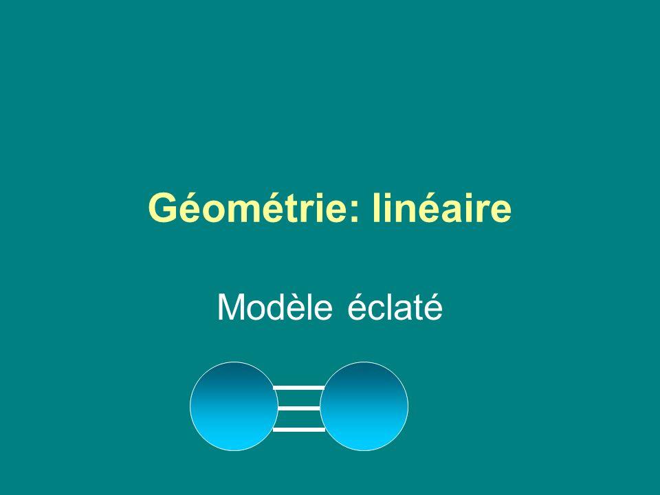 Géométrie: linéaire Modèle éclaté