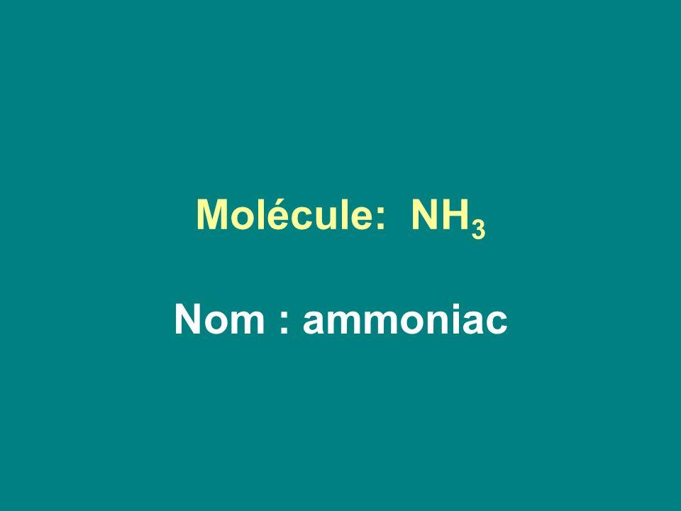 Molécule: NH3 Nom : ammoniac