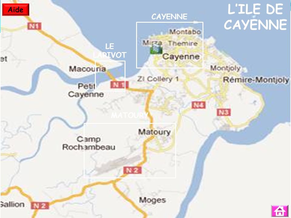 L'ILE DE CAYENNE Aide CAYENNE LE LARIVOT MATOURY