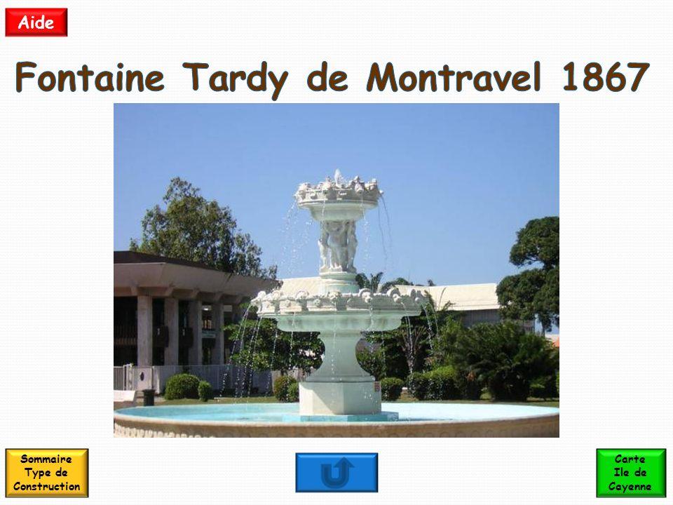 Fontaine Tardy de Montravel 1867 Sommaire Type de Construction