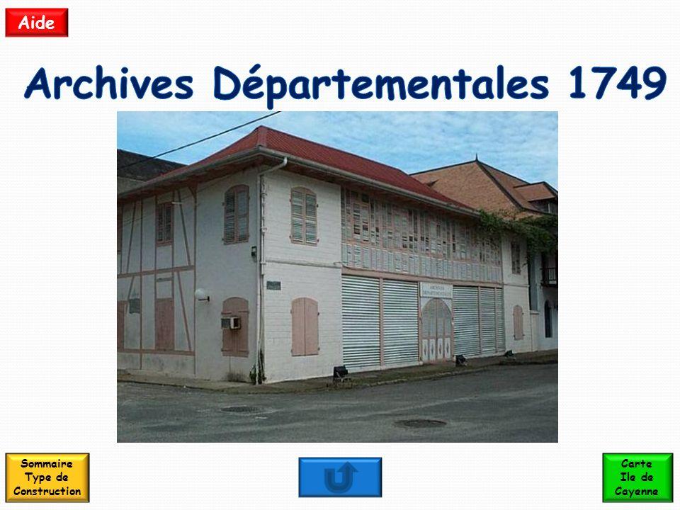Archives Départementales 1749 Sommaire Type de Construction