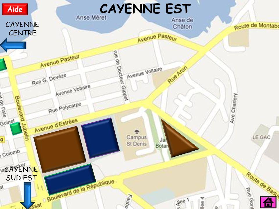 CAYENNE EST Aide CAYENNE CENTRE CAYENNE SUD EST