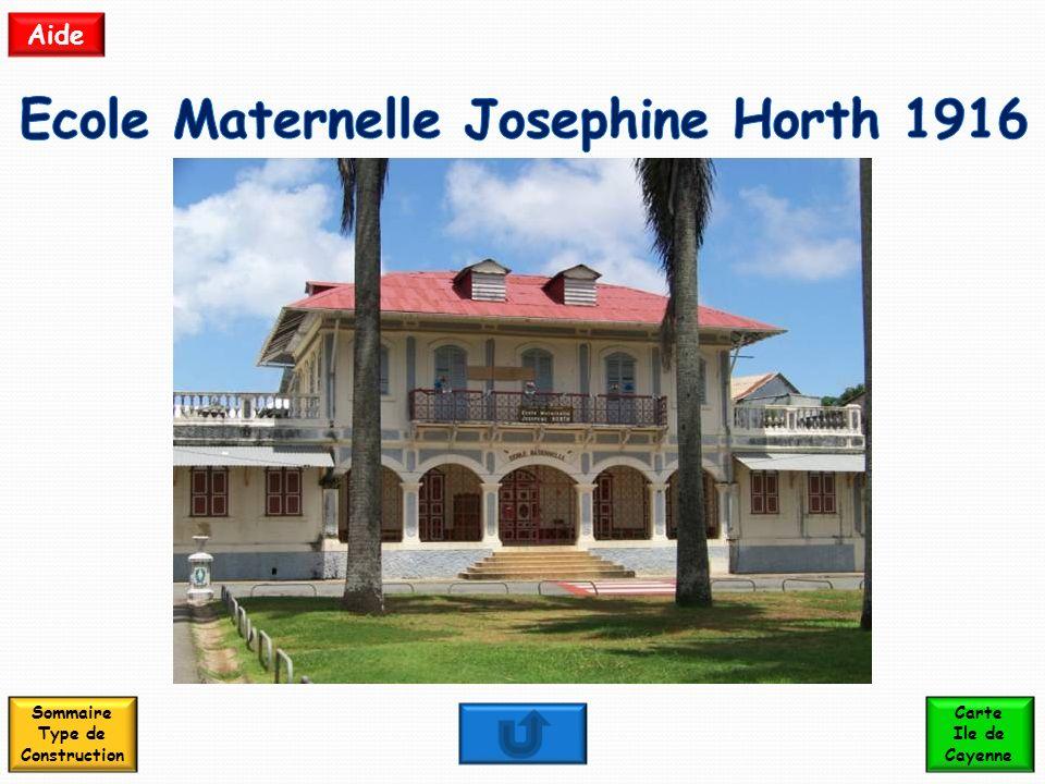 Ecole Maternelle Josephine Horth 1916 Sommaire Type de Construction
