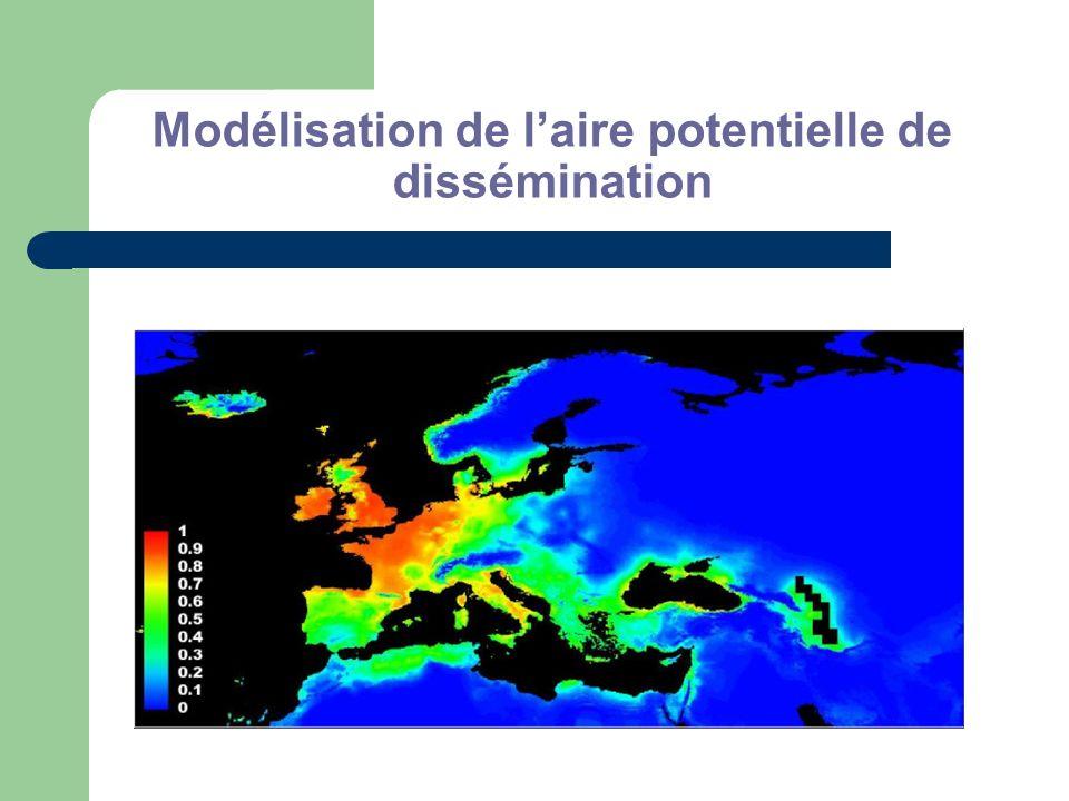 Modélisation de l'aire potentielle de dissémination