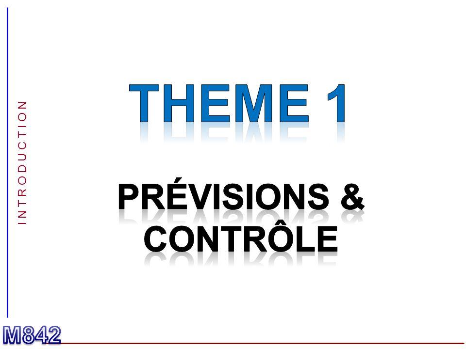 THEME 1 Prévisions & contrôle I N T R O D U C T I O N M842