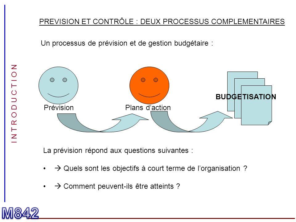 M842 PREVISION ET CONTRÔLE : DEUX PROCESSUS COMPLEMENTAIRES