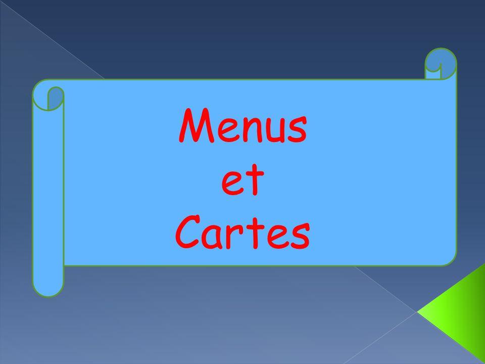 Menus et Cartes