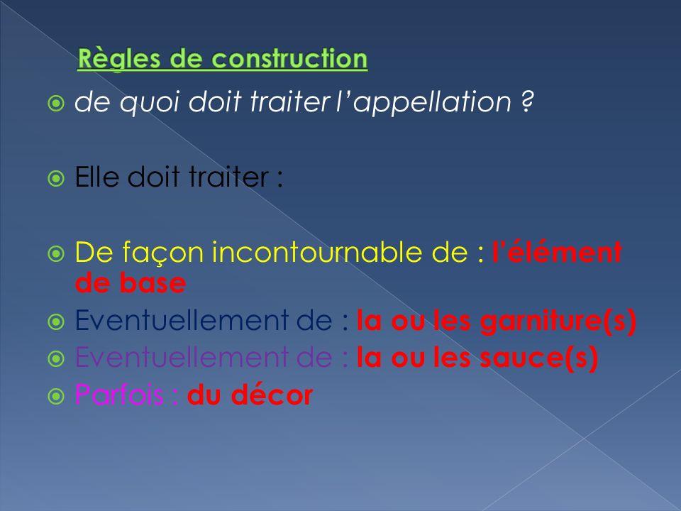 Règles de construction