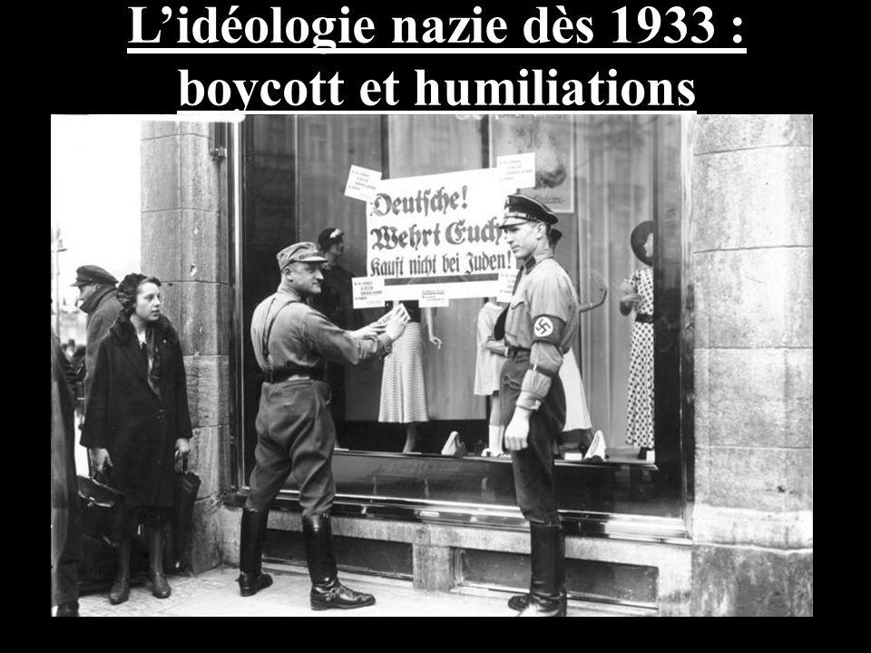 L'idéologie nazie dès 1933 : boycott et humiliations