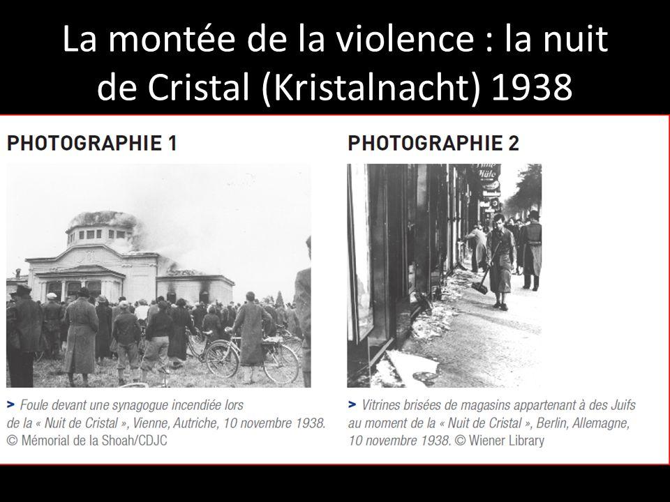 La montée de la violence : la nuit de Cristal (Kristalnacht) 1938