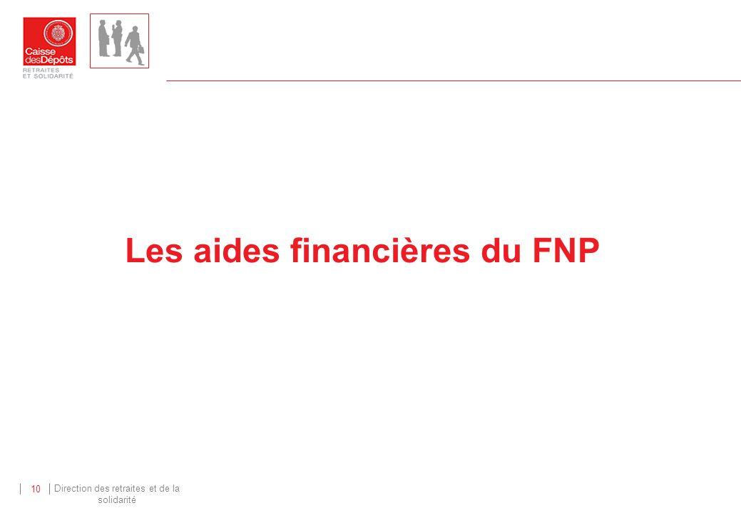 Les aides financières du FNP