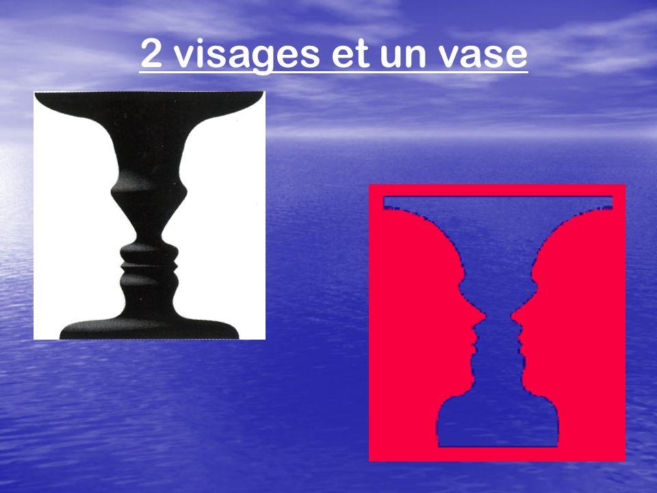 2 visages et un vase