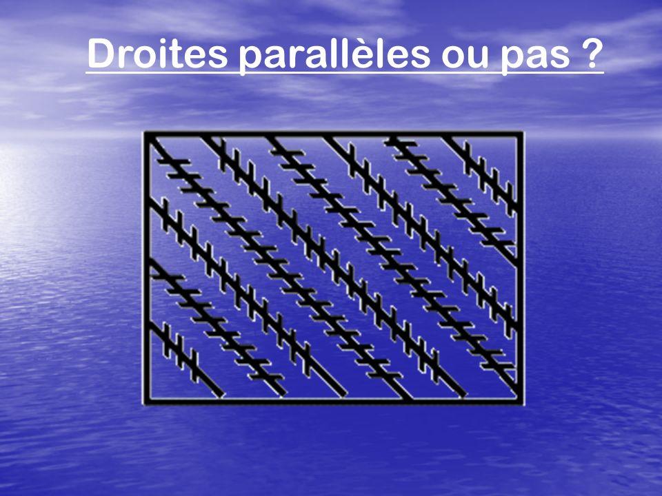 Droites parallèles ou pas