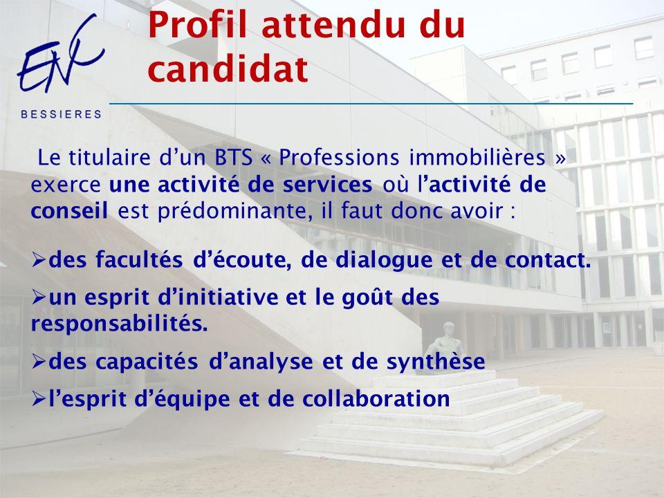Profil attendu du candidat