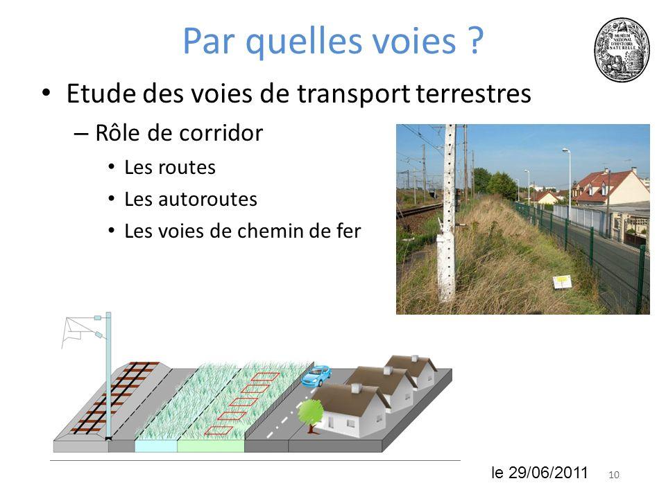 Par quelles voies Etude des voies de transport terrestres