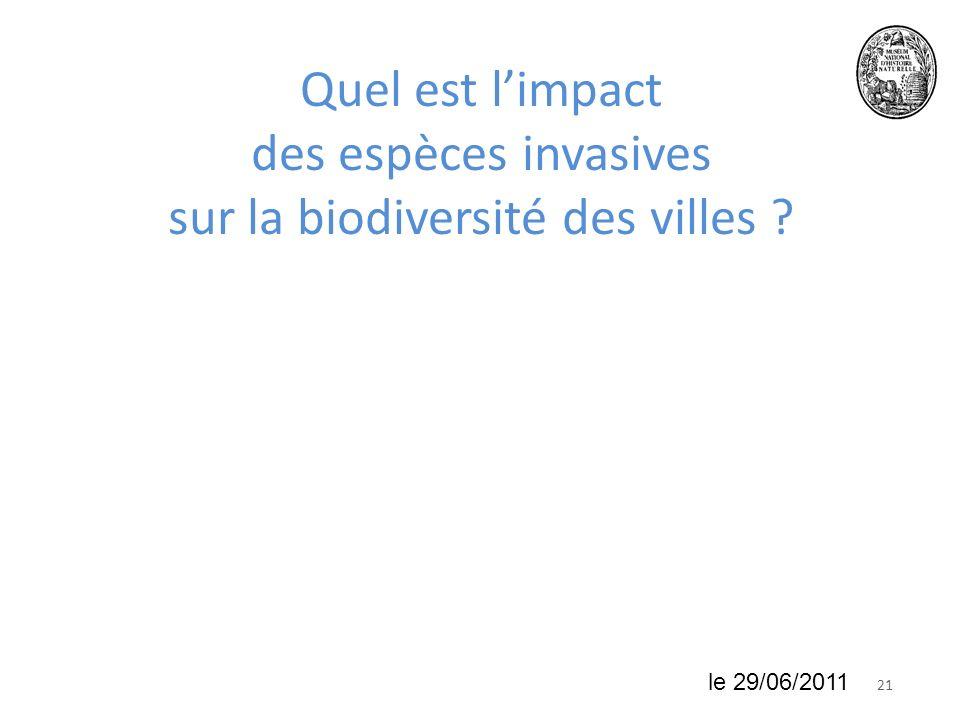 Quel est l'impact des espèces invasives sur la biodiversité des villes