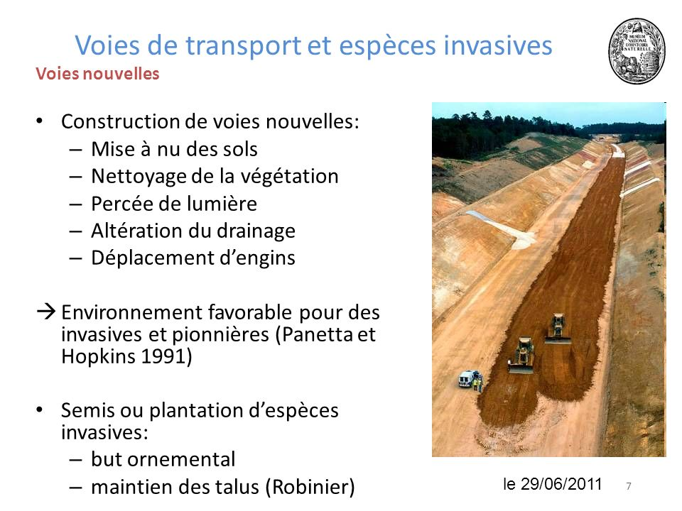 Voies de transport et espèces invasives
