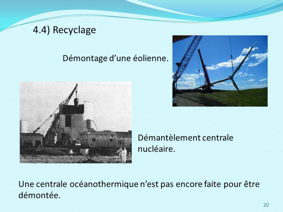 4.4) Recyclage Démontage d'une éolienne.