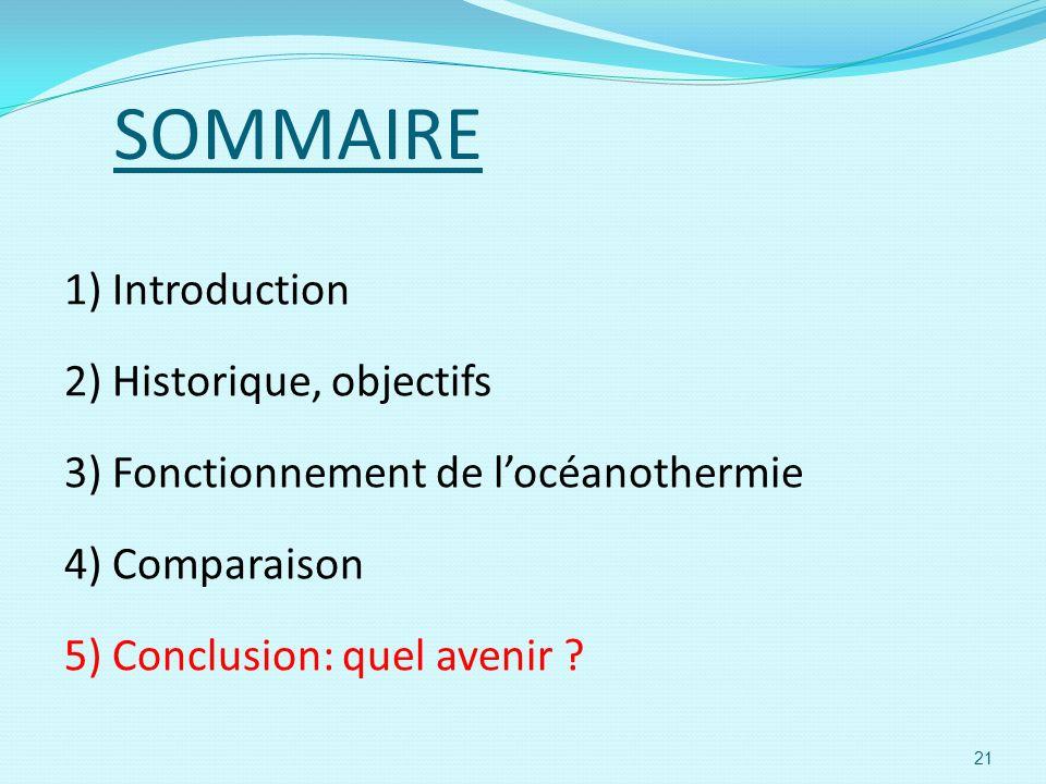 SOMMAIRE 1) Introduction 2) Historique, objectifs