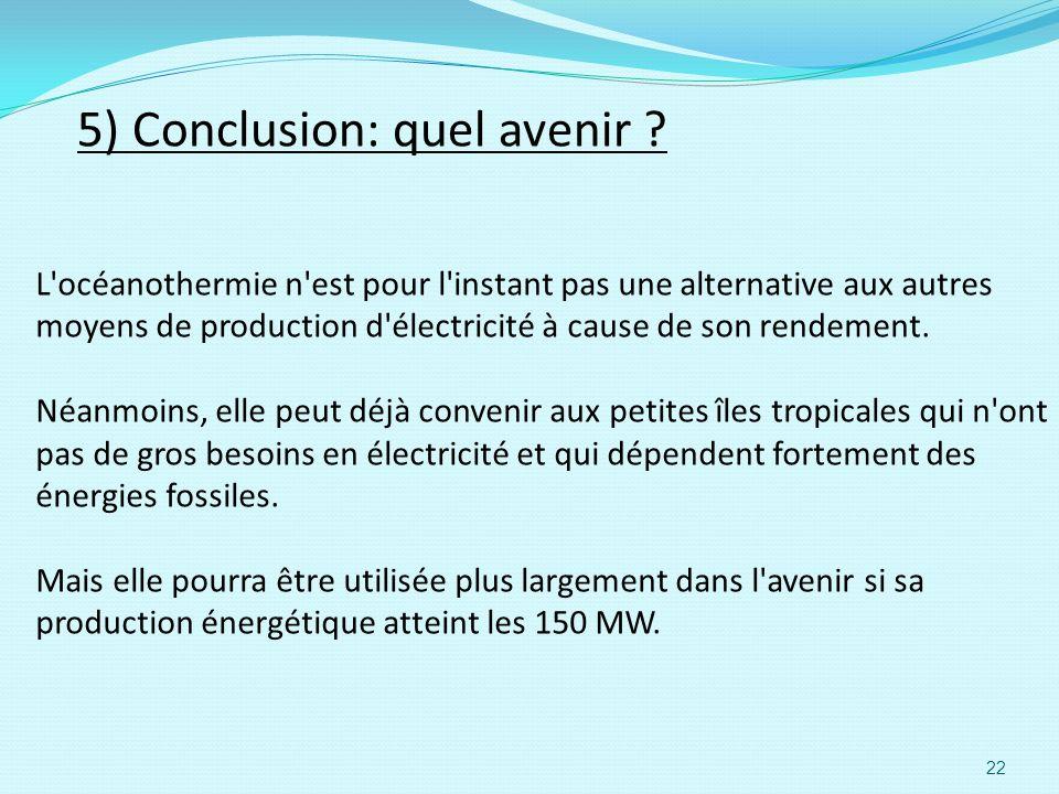 5) Conclusion: quel avenir