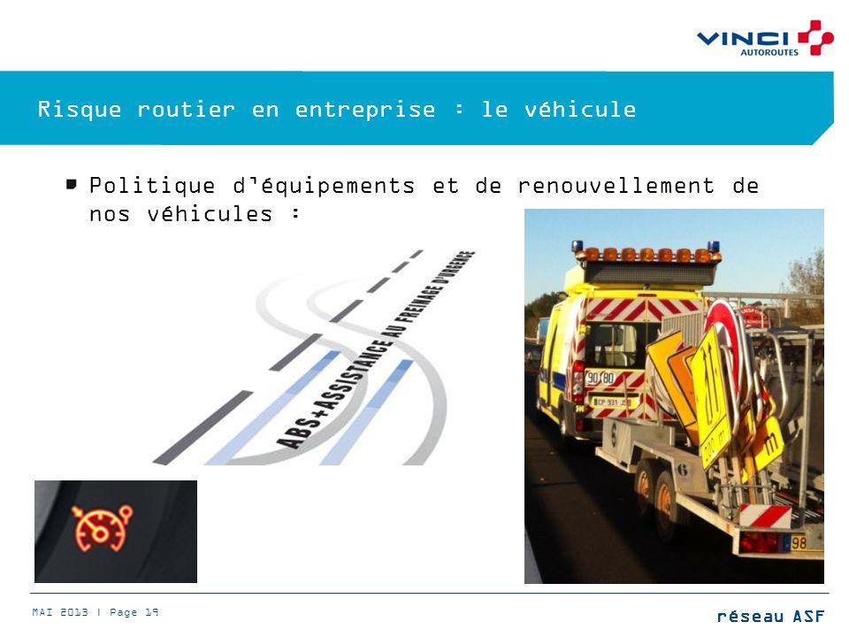 Risque routier en entreprise : le véhicule