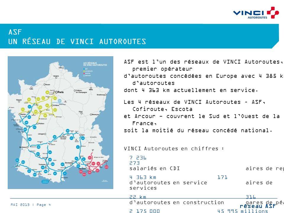 ASF un réseau de VINCI Autoroutes