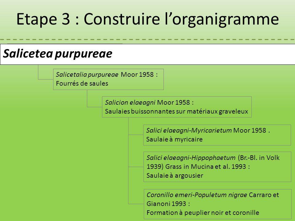 Etape 3 : Construire l'organigramme