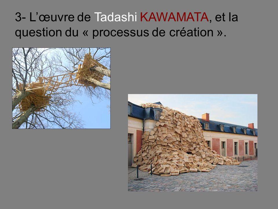 3- L'œuvre de Tadashi KAWAMATA, et la question du « processus de création ».