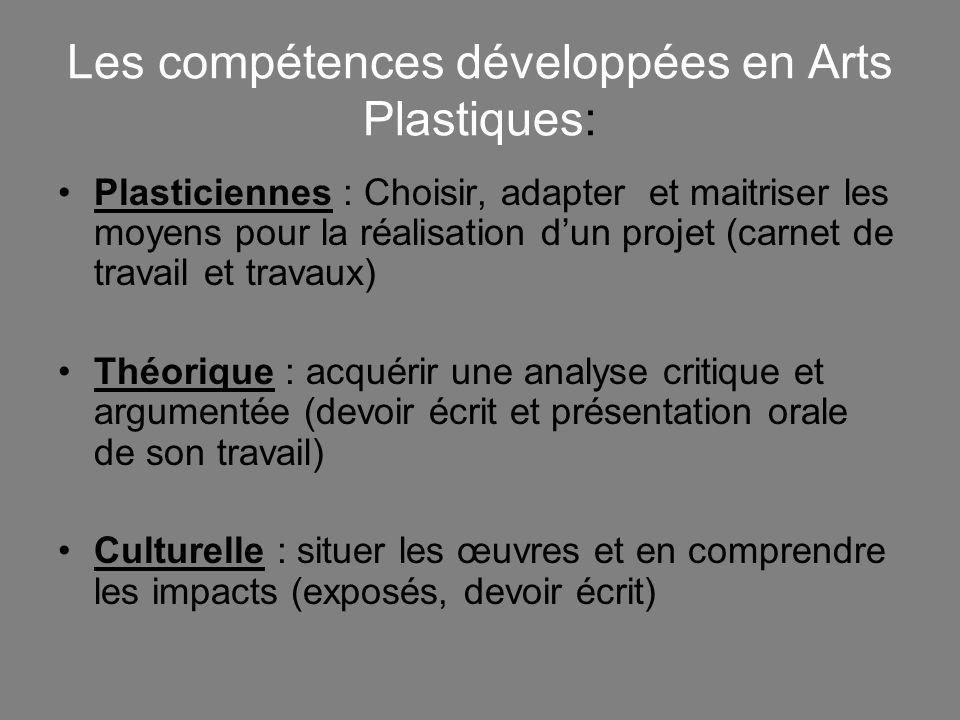 Les compétences développées en Arts Plastiques: