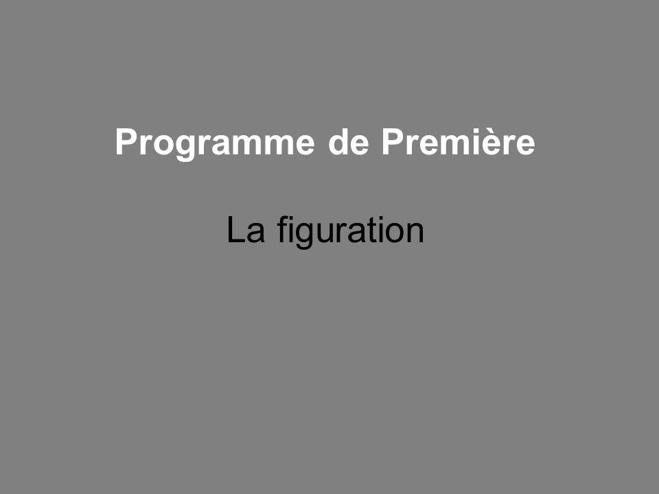 Programme de Première La figuration