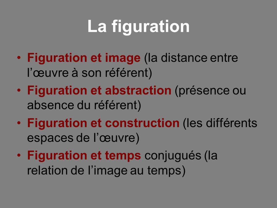 La figuration Figuration et image (la distance entre l'œuvre à son référent) Figuration et abstraction (présence ou absence du référent)