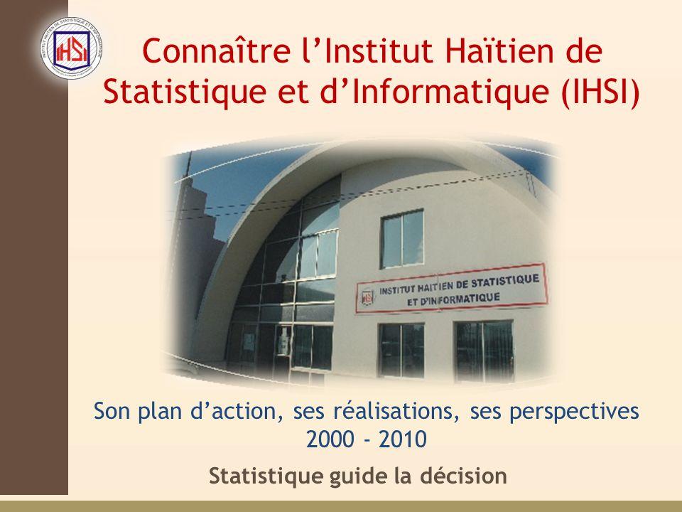 Connaître l'Institut Haïtien de Statistique et d'Informatique (IHSI)