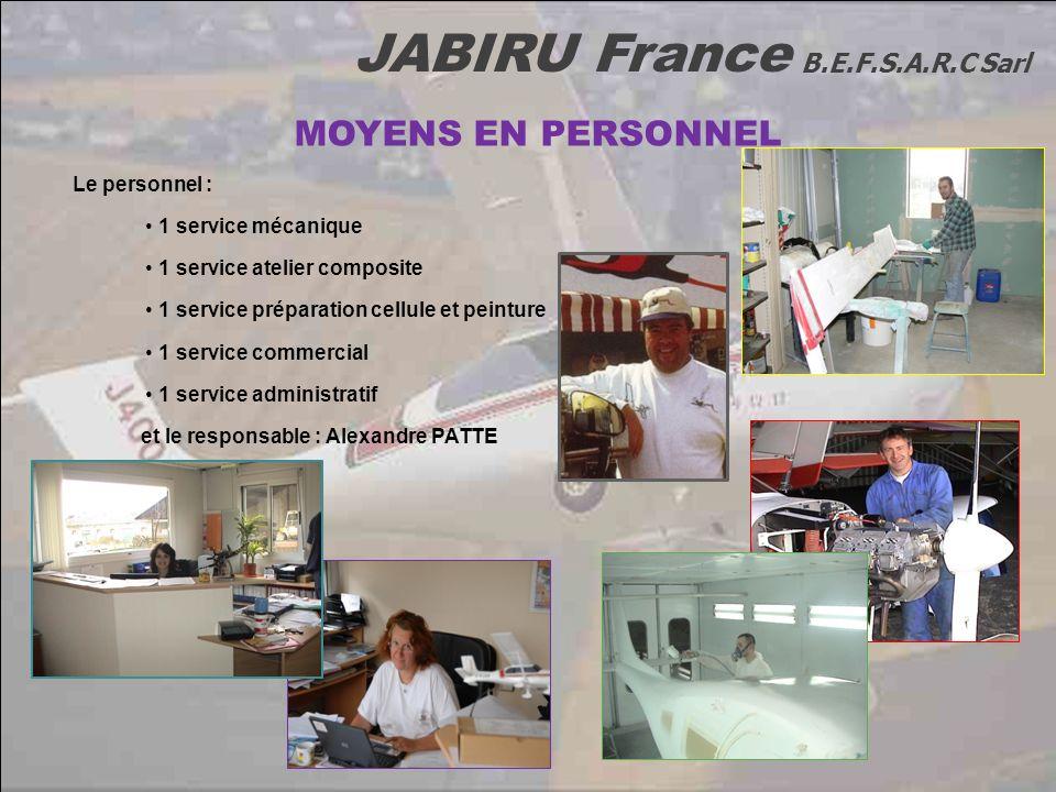 MOYENS EN PERSONNEL Le personnel : 1 service mécanique