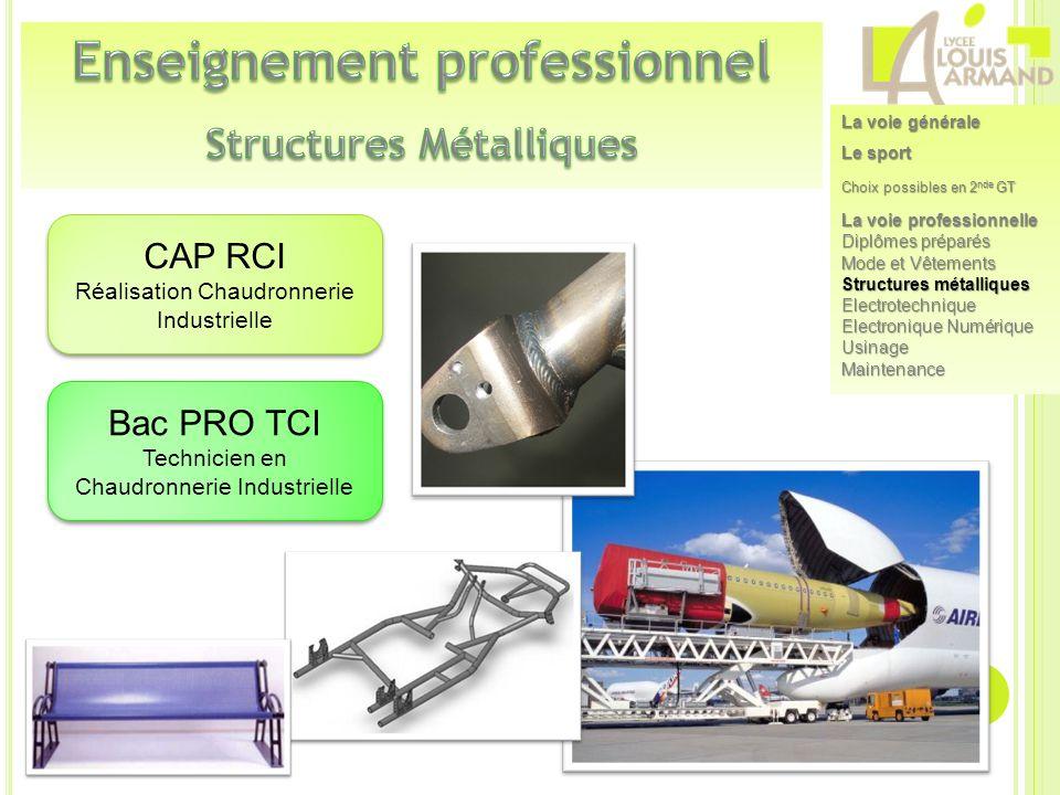 Enseignement professionnel Structures Métalliques
