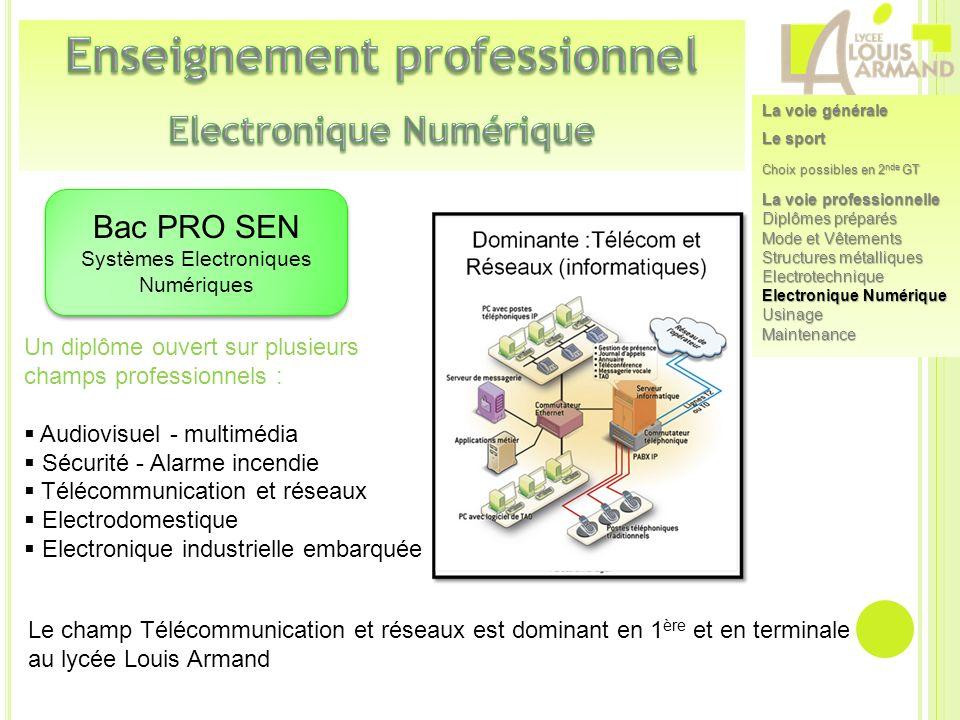 Enseignement professionnel Electronique Numérique