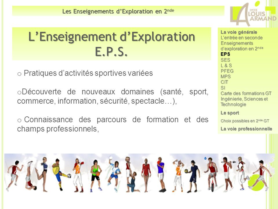 L'Enseignement d'Exploration E.P.S.