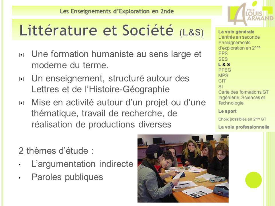 Littérature et Société (L&S)