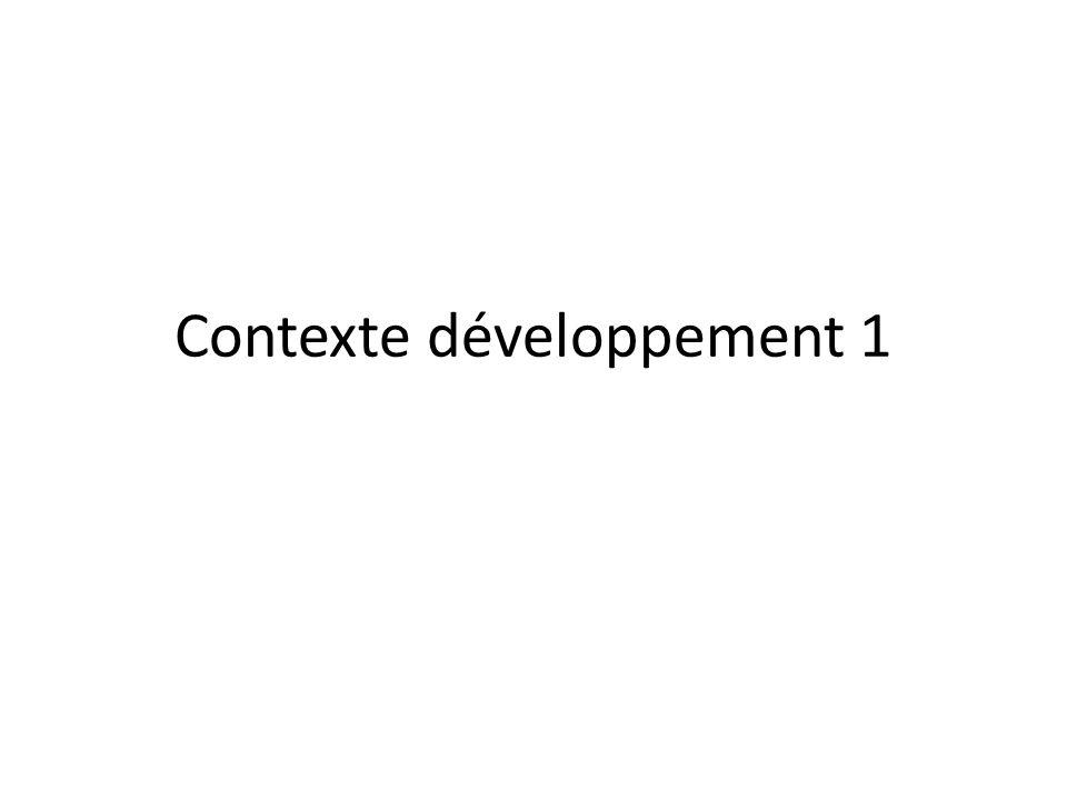Contexte développement 1