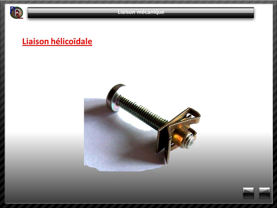 Liaison hélicoïdale