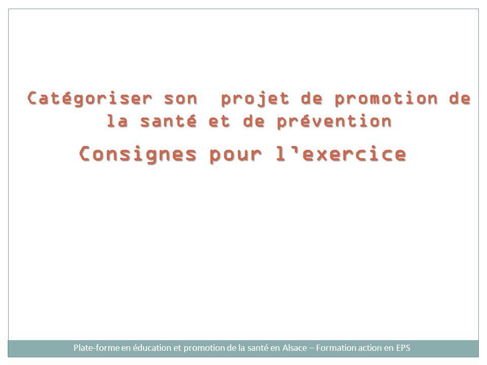 Catégoriser son projet de promotion de la santé et de prévention