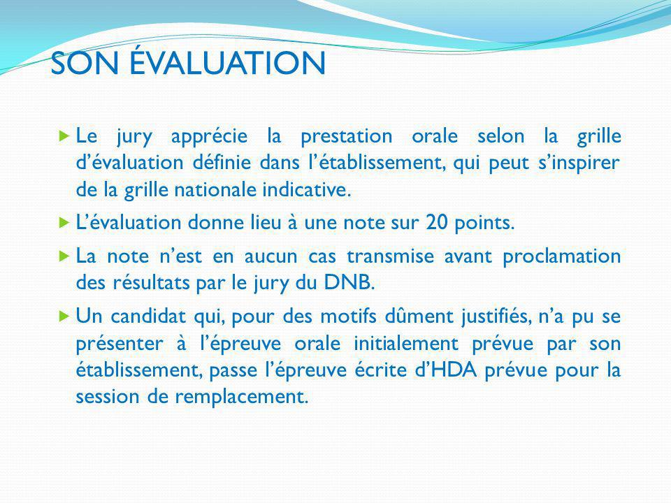 SON ÉVALUATION