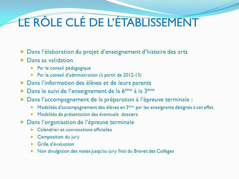 LE RÔLE CLÉ DE L'ÉTABLISSEMENT