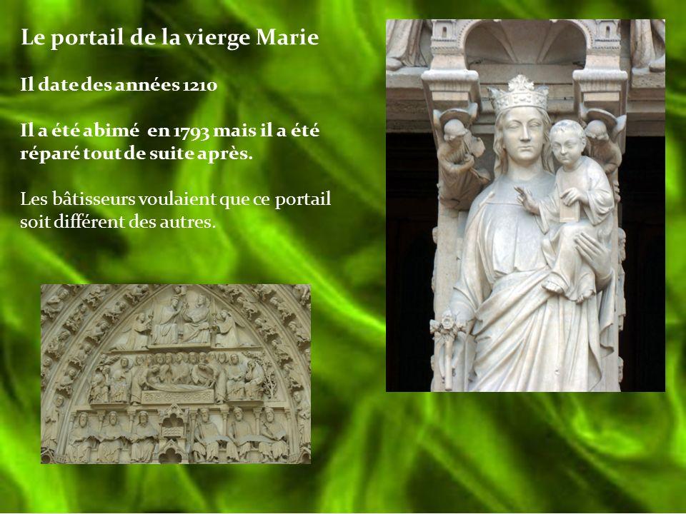 Le portail de la vierge Marie