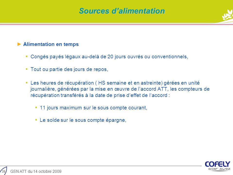 Sources d'alimentation
