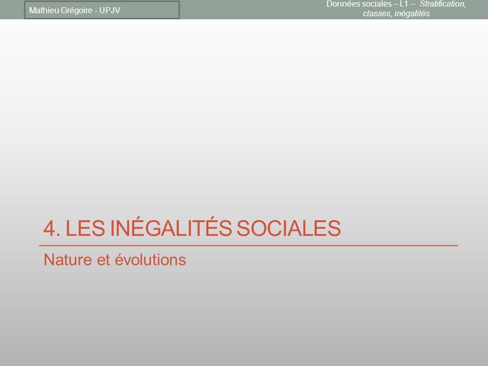4. Les inégalités sociales