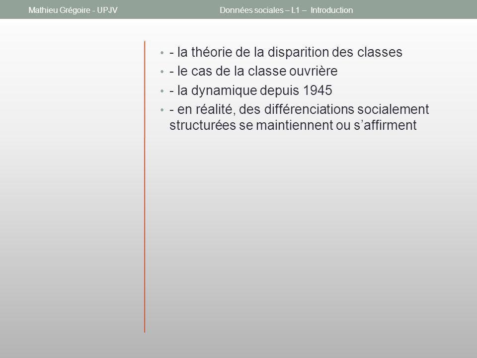 Données sociales – L1 – Introduction